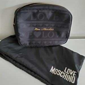 Like New! Love Moschino Nylon Makeup Bag/ Clutch